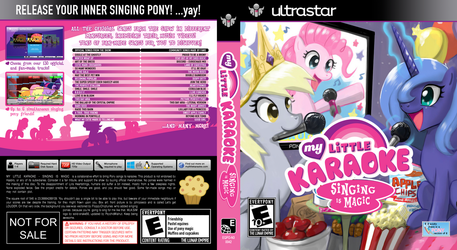 My Little Karaoke: Singing is Magic Blu-Ray Cover by FloppyChiptunes