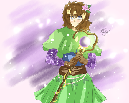 Cassie-Human Sorcerer-Druid , Three years later by MeghansDreamDesigns