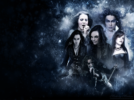 Symphonic metal queens - wallpapers by CountessMorticia
