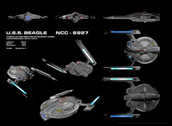 USS Beagle, NCC-6927, ortho by harroldsheep