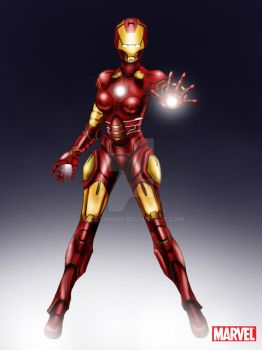 Avengers: Ironman Female HelmetON by aerith0808