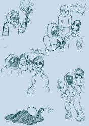 Doodles of Marble Hornets and Ticci Toby by Omegium
