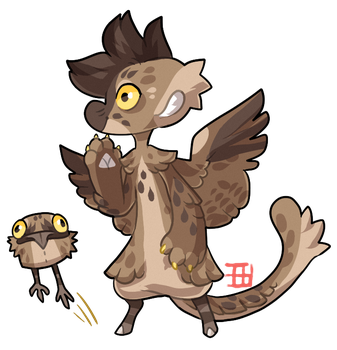 #892 Magical Blessed Bagbean w/m - Potoo by griffsnuff