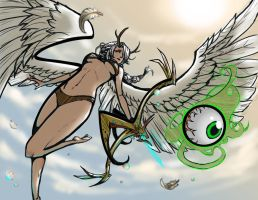 Artemis and the Eye by lieusum