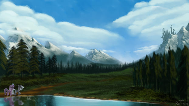 The View of Canterlot Remastered by Robsa990