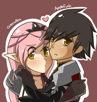 Elsword couple by PinkLovii