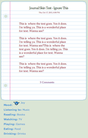 Simple Note - Free Journal Skin by r0se-designs