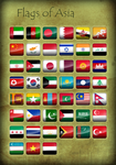 Flags of Asia - Icons by Kristo1594