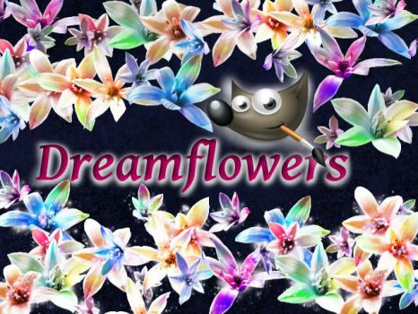 Dream flowers GIMP Brush by DonnaCuzzard