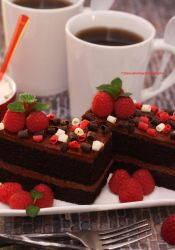 No Stress Afternoon (w/ Dark Chocolate Cake) by theresahelmer