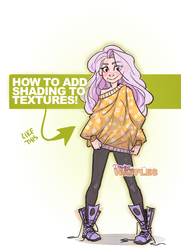 ADD SHADING TO TEXTURES - Digital Art Tutorial by Drawing-Wiff-Waffles