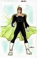 Mon El as Green Lantern by Cinar