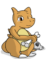cubone without the skull. by LukeTheeMewtwo