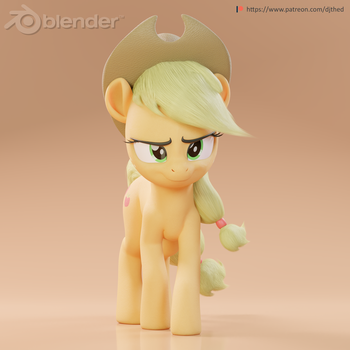 Serious Applejack by TheRealDJTHED