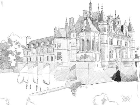 Chenonceau Castle by Hanyu-Kyo