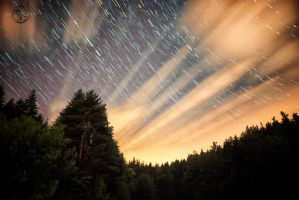 Cloudy Startrails by Creative--Dragon
