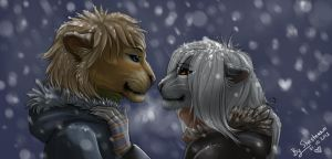 First snow by Shesterrni