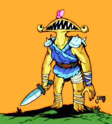 Monster Knight with a butterfly by jouste
