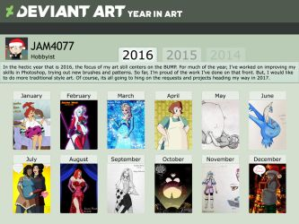 JAM4077's Year in Art 2016 by JAM4077