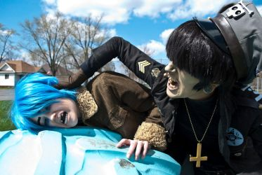2-D and Murdoc by FunnaCosplay