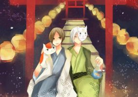 Gin and Natsume by ciceon
