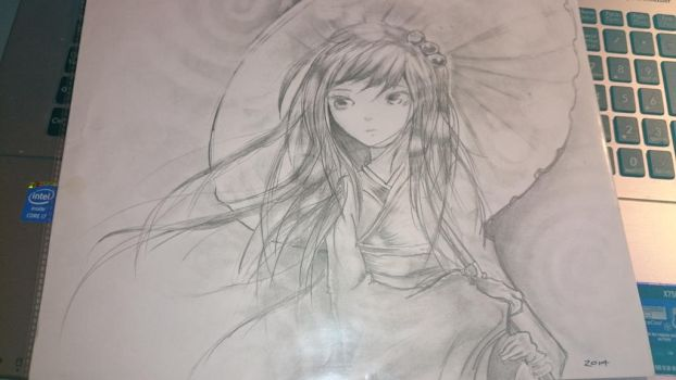 Random speed drawing contest with sister by BOSS-ARTWORK