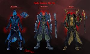 Commission: RPG Outfit Designs by Hassly