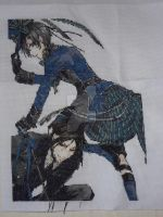 Black Butler Cross stitch Done by horrorfreakjuh