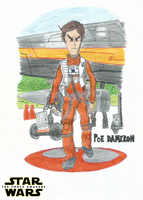 Poe Dameron - Star Wars: The Force Awakens by FTFTheAdvanceToonist
