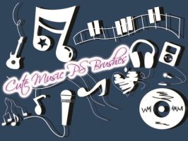 Cute Music Brushes by petermarge