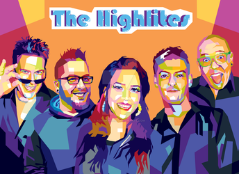 WPAP Pop Art Commission - The Highlites Band by AdamKhabibi