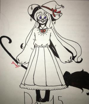 Inktober 2017 - Day 15: Witchsona! by Guusagi