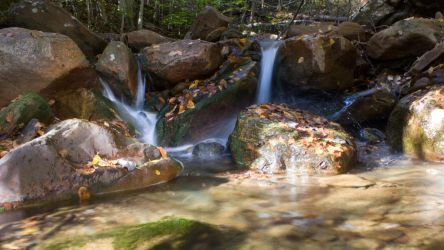 Small Waterfall In Fall by FOTOSHOPIC