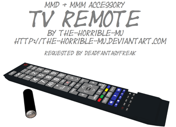 [MMD + M3 Accessory] TV Remote + DL by The-Horrible-Mu