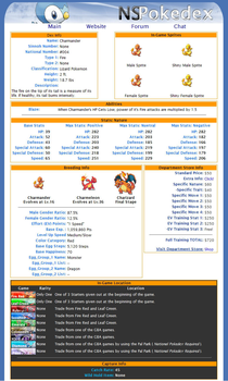Pokedex Website Design-Sinnoh by xblBloodwize
