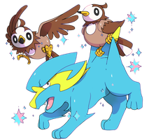 Shiny electrike and starly