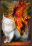 Fire Lady and Cat's Ghost by tooniegirl