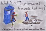 Time travelers' favorite holiday by DarkMysteryCat