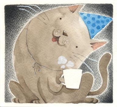 Birthday Cat by porcelanita