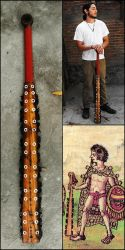 Two handed Macuahuitl by LeifArmordson