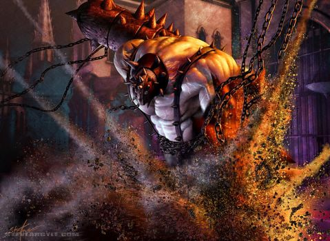 Bloodfray Giant by SteveArgyle