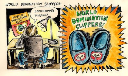 World Domination Slippers