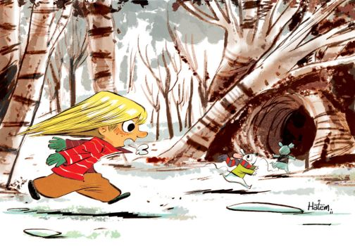 Chasing Snow Mice by hahatem