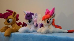 Apple Bloom and Sweetie Belle- sea pony-for sale! by Masha05