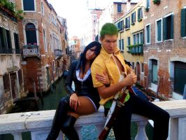 Nico Robin and Roronoa Zoro Cosplay by SidneyRobin