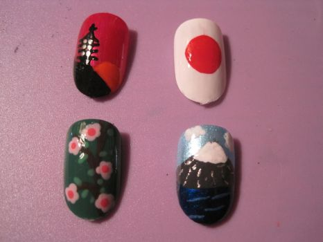 Japanese Nails by hatterlet
