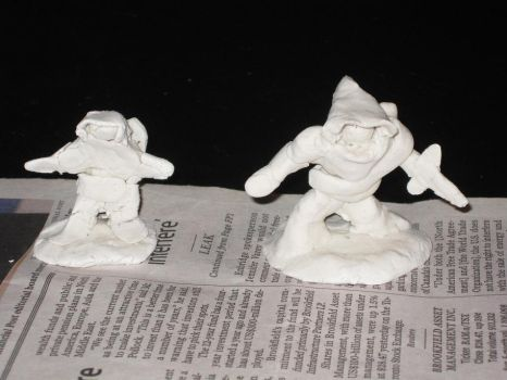 Clay minis test, 1 by SeprenMaelstrom