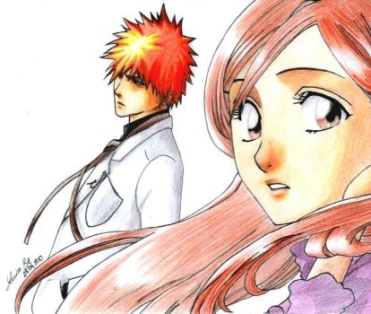 Ichigo and Orihime by LuisaBenedetti