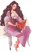 Melissa and Brynden by dottypurrs
