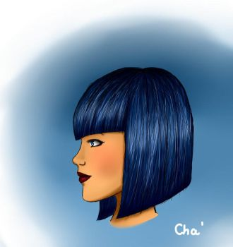 Blue hair by Chachafloflomanga
